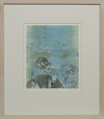 Lot 553 - GATHERING CLOUDS, AN ETCHING BY ELEANOR SYMMS