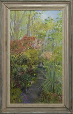 Lot 596 - IN THE SPRING TIME, AN OIL BY ANN PATRICK