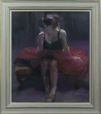 Lot 581 - AFTER THE DANCE, AN OIL BY MARION DRUMMOND