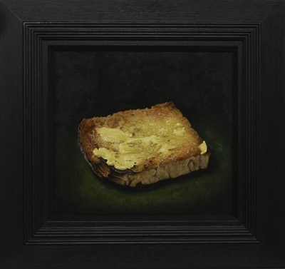 Lot 537 - UNTITLED (TOAST), AN OIL BY JAMES MCDONALD