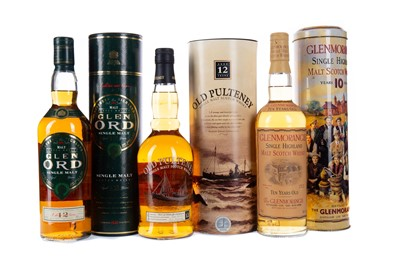 Lot 42 - GLEN ORD 12 YEARS OLD, GLENMORANGIE 10 YEARS OLD AND OLD PULTENEY AGED 12 YEARS