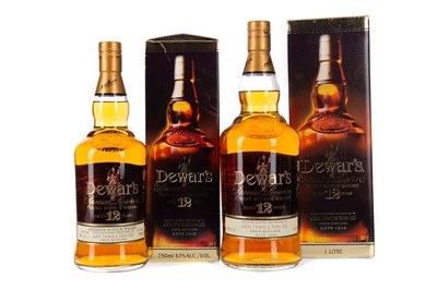 Lot 48 - TWO BOTTLES OF DEWAR'S AGED 12 YEARS