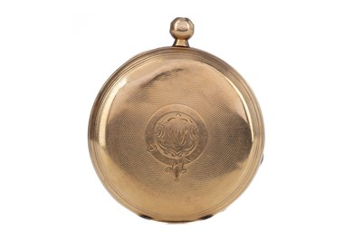 Lot 726 - AN EIGHTEEN CARAT GOLD FULL HUNTER POCKET WATCH