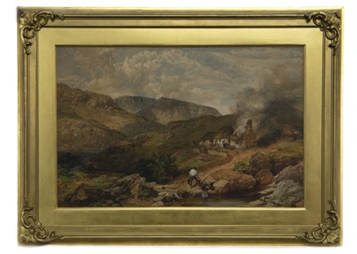 Lot 63 - LOCH ECK, A WATERCOLOUR BY WILLIAM SIMPSON
