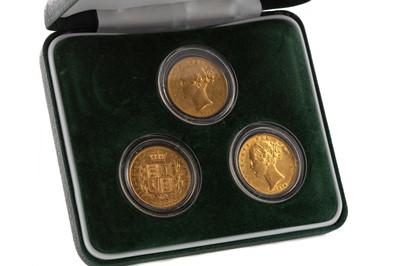 Lot 17 - A VICTORIA GOLD THREE COIN SET