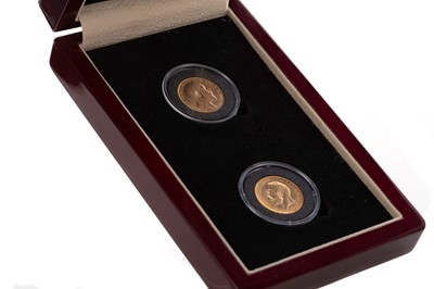 Lot 18 - TWO  GOLD SOVEREIGN COIN SET