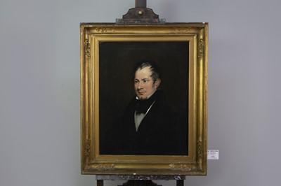 Lot 1064 - AN ENGLISH SCHOOL PORTRAIT OF A GENTLEMAN