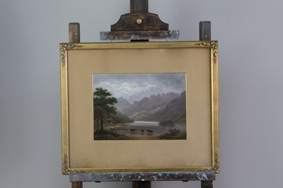 Lot 1070 - AN OIL PAINTING OF A WATERFALL AND THREE OTHERS
