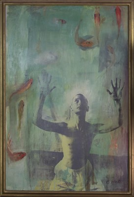Lot 1071 - THE FISH BOWL, A LARGE WORK BY BRENT MILLER