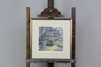 Lot 1081 - A WATERCOLOUR BY GRAHAM BUCHANAN-DUNLOP AMD TWO OTHERS