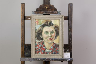Lot 1083 - A WATERCOLOUR BY CYNTHIA MCCRACKEN AND THREE OTHER PORTRAIT STUDIES