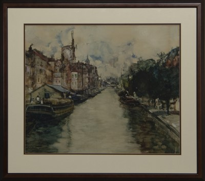 Lot 67 - AMSTERDAM CANAL, A MIXED MEDIA BY JAMES KAY