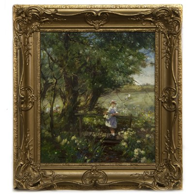 Lot 68 - QUEEN OF THE MEADOW, AN OIL BY DAVID FULTON