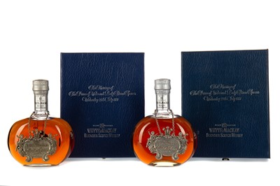 Lot 67 - TWO BOTTLES OF WHYTE & MACKAY ROYAL WEDDING 12 YEARS OLD