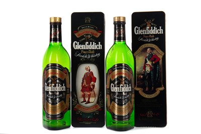 Lot 77 - TWO BOTTLES OF GLENFIDDICH SPECIAL OLD RESERVE IN CLAN TINS