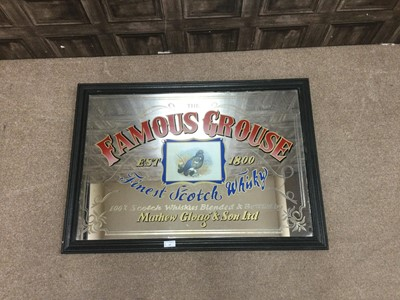 Lot 29 - A MID 20TH CENTURY THE FAMOUS GROUSE ADVERTISING PUB MIRROR