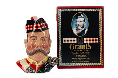 Lot 93 - GRANT'S 'WILLIAM GRANT CHARACTER JUG' AGED 25 YEARS