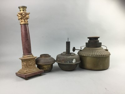 Lot 36 - A COLLECTION OF OIL LAMP RESERVOIRS