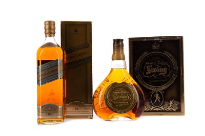 Lot 94 - JOHNNIE WALKER GOLD LABEL AGED 18 YEARS, AND JOHNNIE WALKER SWING