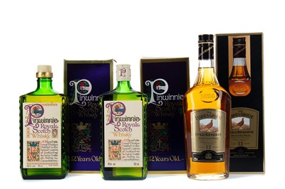 Lot 95 - TWO BOTTLES OF PINWINNIE ROYAL AND FAMOUS GROUSE GOLD RESERVE 12 YEARS OLD