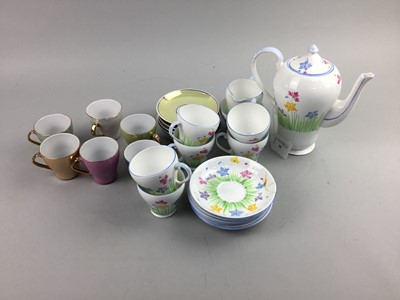 Lot 38 - A ROYAL GRAFTON PART COFFEE SERVICE AND A SET OF SIX COFFE CUPS AND SAUCERS