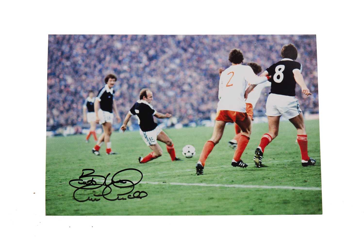 Lot 1716 - A SIGNED ARCHIE GEMMILL PHOTOGRAPH - 'THE BEST SCOTLAND GOAL EVER'