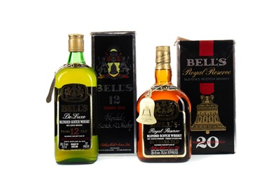 Lot 97 - BELL'S ROYAL RESERVE 20 YEARS OLD AND BELL'S 12 YEARS OLD