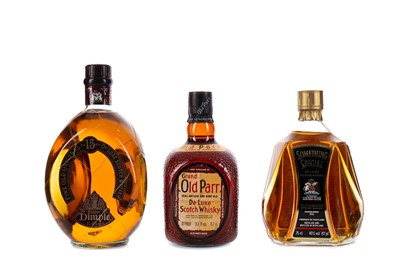 Lot 98 - DIMPLE 15 YEARS OLD, GRAND OLD PARR, AND SOMETHING SPECIAL