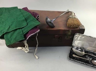 Lot 44 - A CASED COLLECTION OF SILVER PLATED FLATWARE