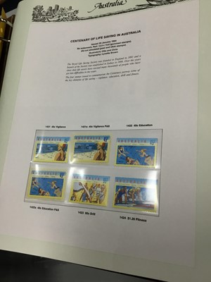 Lot 46 - A LOT OF FIVE FOLDERS OF AUSTRALIAN STAMPS ALONG WITH THREE FOLDERS OF NZ