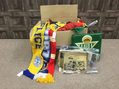 Lot 48 - A COLLECTION OF FOOTBALL FLAGS AND SCARVES