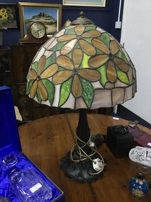 Lot 61 - A TIFFANY STYLE LAMP