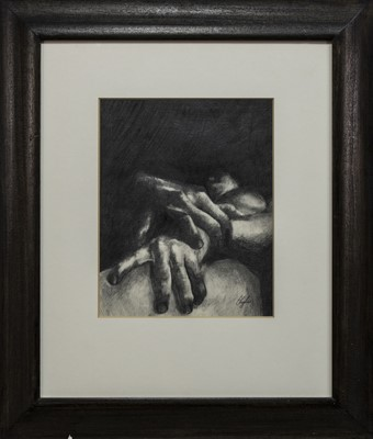 Lot 568 - AN UNTITLED CHARCOAL BY CHERYLENE DYER