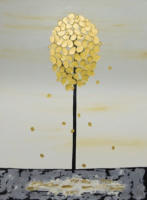 Lot 562 - THE GOLDEN TREE, AN ACRYLIC BY PIERO MONTANELLI