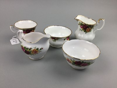 Lot 65 - A ROYAL ALBERT 'OLD COUNTRY ROSES' PART TEA SERVICE AND A ROYAL VALE PART SET