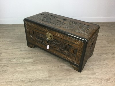 Lot 666 - AN EARLY 20TH CENTURY CHINESE BLANKET CHEST