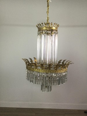 Lot 1727 - A CRYSTAL CHANDELIER