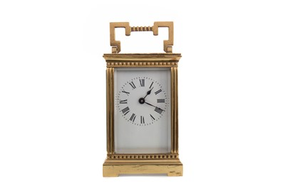 Lot 1139 - AN EARLY 20TH CENTURY CARRIAGE CLOCK
