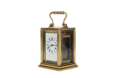 Lot 1137 - AN EARLY 20TH CENTURY CARRIAGE CLOCK