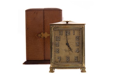 Lot 1135 - AN EARLY 20TH CENTURY ZENITH BEDSIDE TIMEPIECE