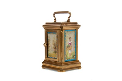 Lot 1136 - A LATE 19TH CENTURY CARRIAGE CLOCK
