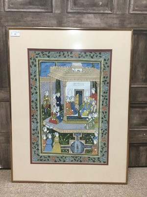 Lot 66 - A 20TH CENTURY INDIAN PAINTING ON FABRIC