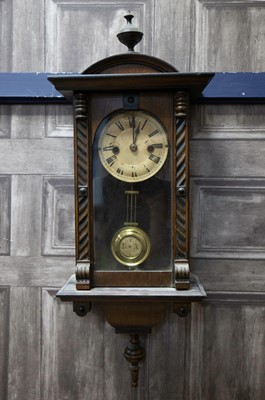 Lot 1134 - A LATE VICTORIAN VIENNA STYLE WALL CLOCK