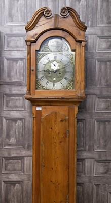 Lot 1126 - A GEORGE III PINE LONGCASE CLOCK