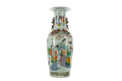 Lot 696 - A 19TH CENTURY CHINESE FAMILLE VERTE VASE