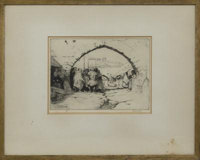 Lot 76 - JEWISH QUARTER, TETUAN, AN ETCHING BY JAMES MCBEY