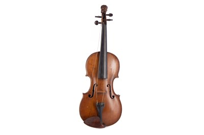 Lot 1143 - A KLOZ SCHOOL VIOLIN WITH TWO BOWS