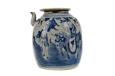 Lot 687 - AN 18TH/19TH CENTURY CHINESE TEA POT WITH COVER