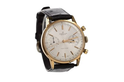 Lot 730 - A BREITLING TOP TIME GOLD PLATED MANUAL WIND WRIST WATCH