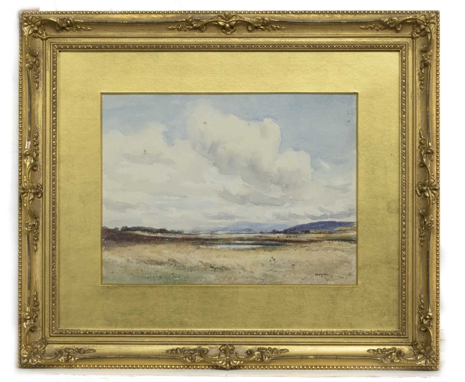 Lot 82 - AN UNTITLED WATERCOLOUR BY DAVID WEST